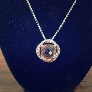 David Yurman Infinity necklace w/Morganite